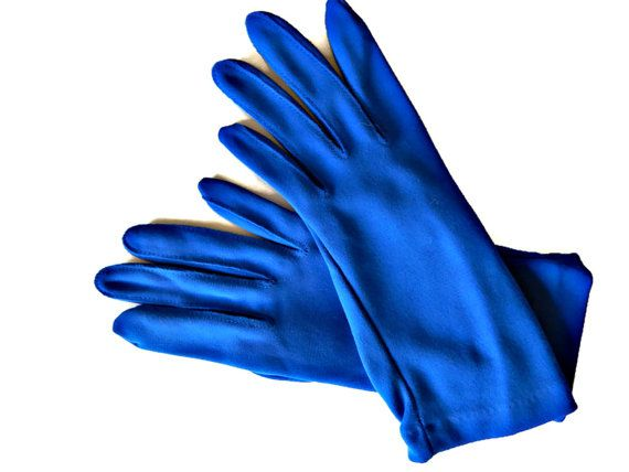 Azure Blue Gloves Women's Size 6.5