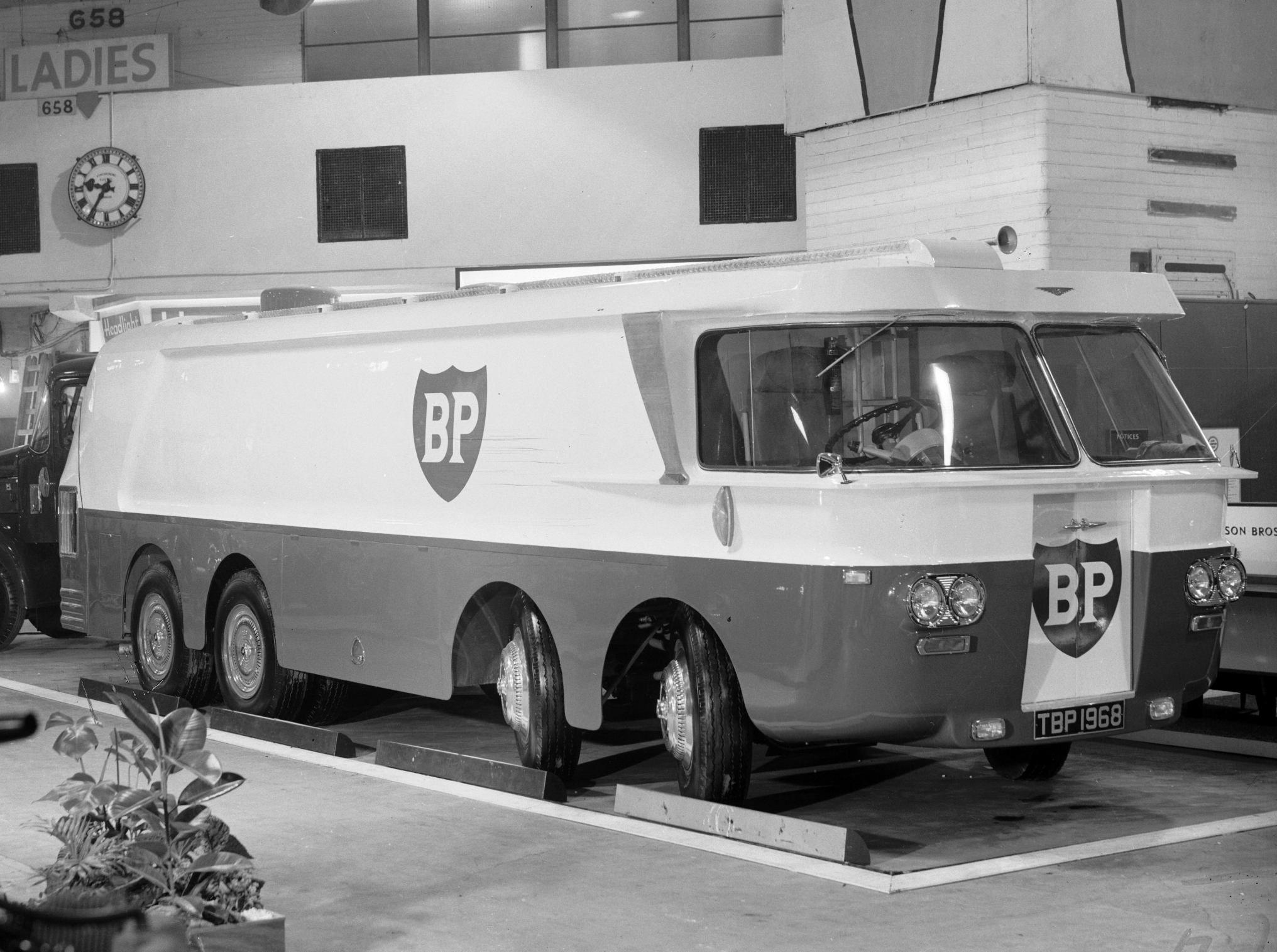 BP Thompson Autotanker at the Earls Court Motorshow, 1960. | Trucks ...