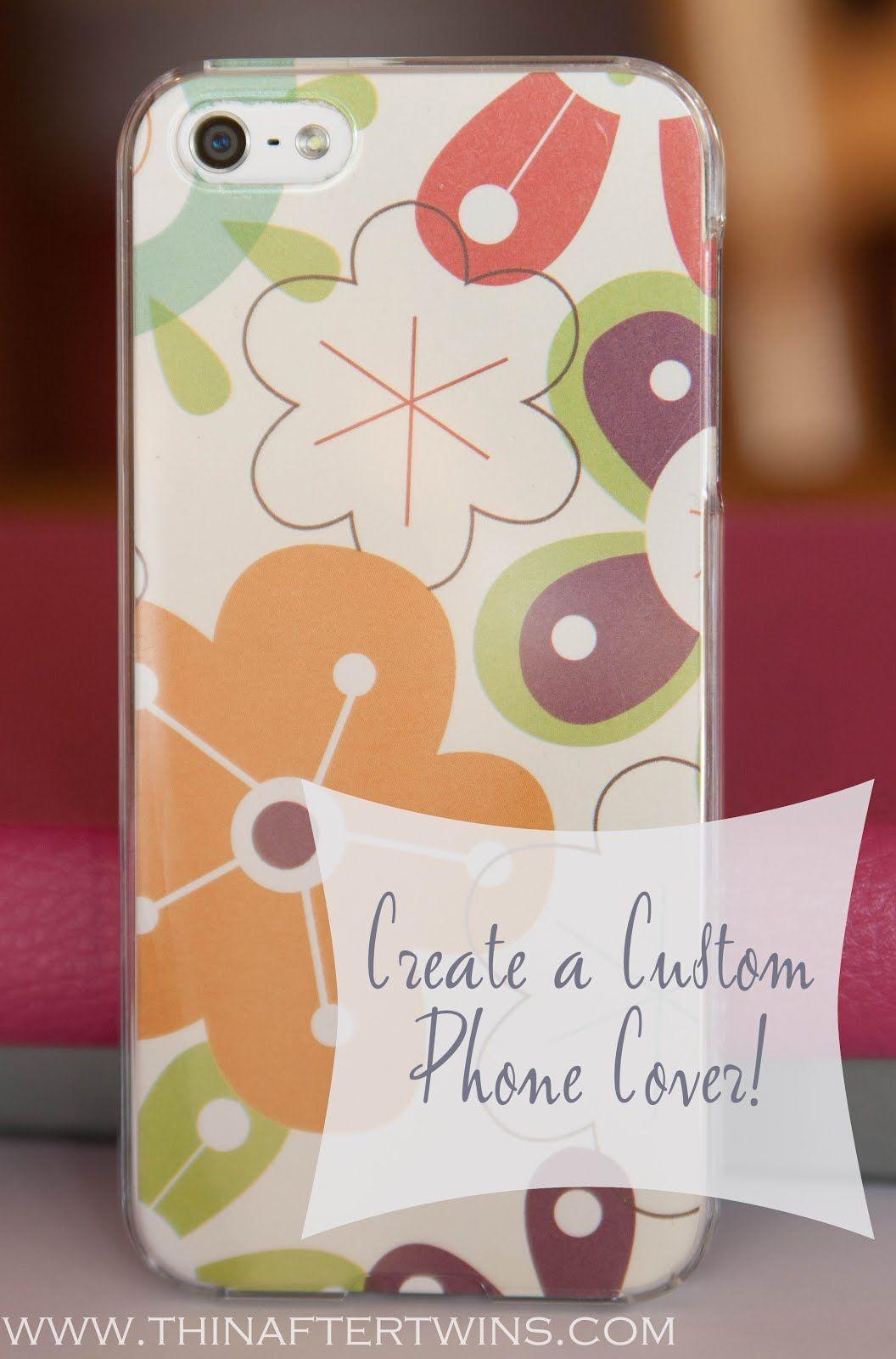 Scrapbook paper case - Custom Phone Case Tutorial Using Scrapbook Paper