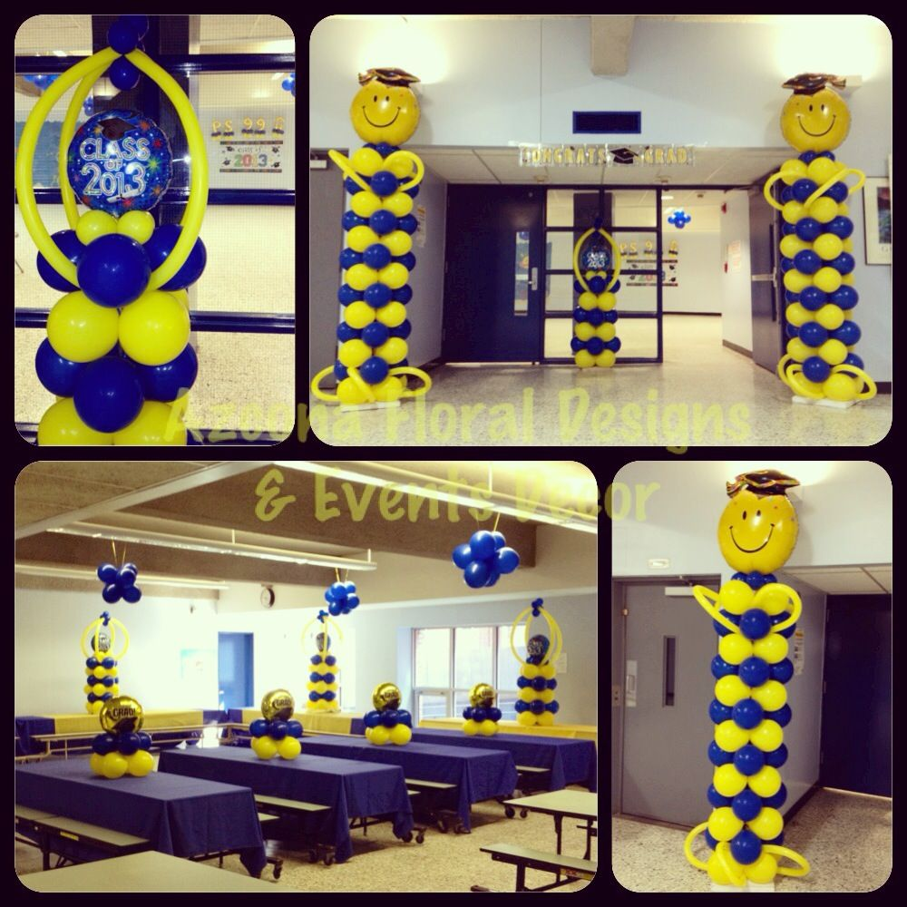 Graduation balloons decor balloons decor pinterest for Balloon decoration ideas for graduation