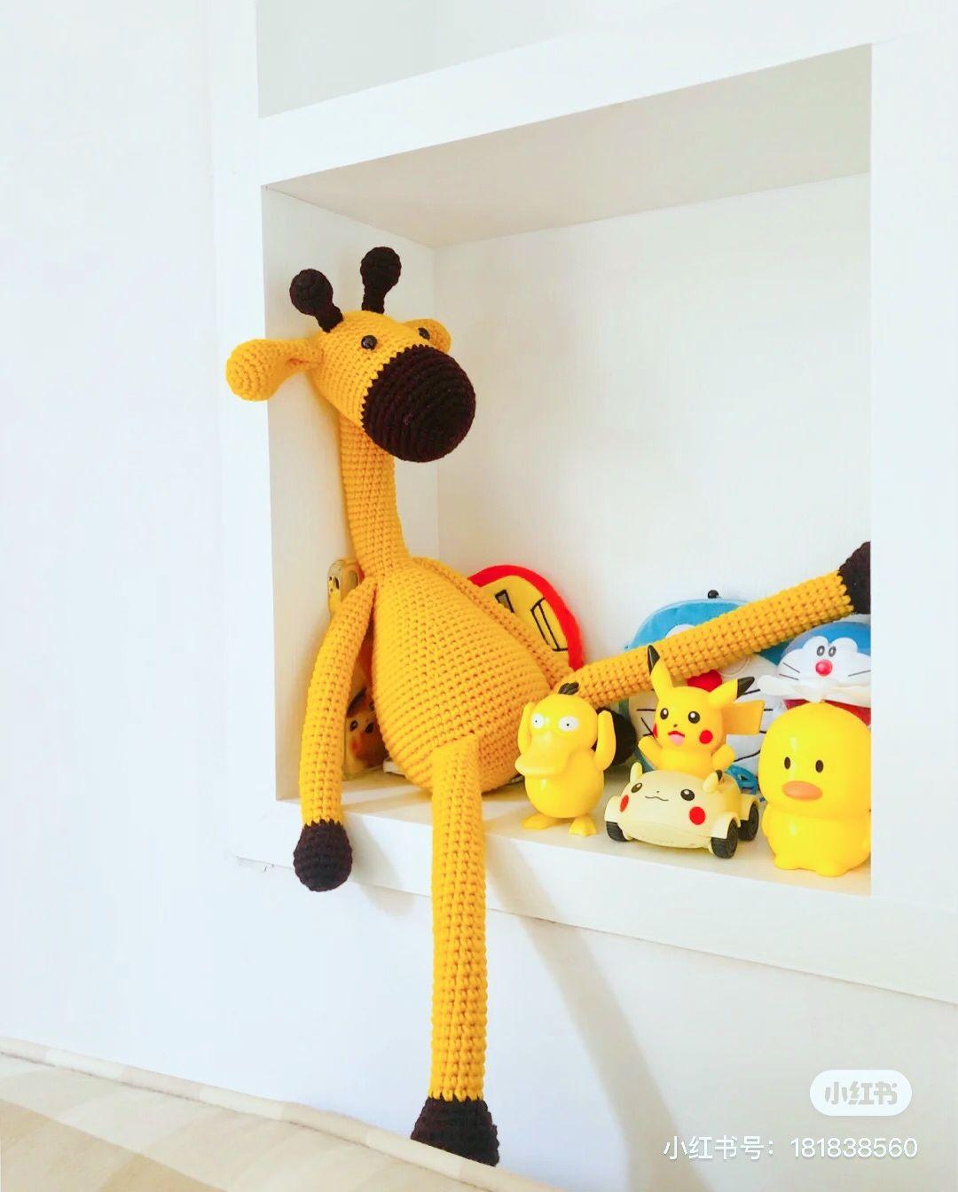 Handmade toys crochet animal inspiration amigurumi giraffe