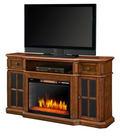 Muskoka Sinclair 60 Media Fireplace W Led Lights And Bluetooth Aged Cherry Aged Cherry 60 Electric Fireplace Tv Stand Electric Fireplace Fireplace Tv Stand