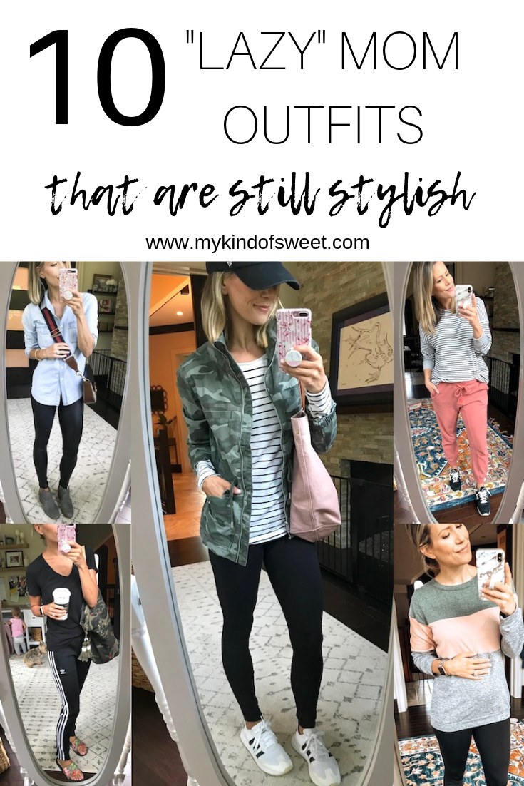 10 Lazy Mom Outfits That Are Still Stylish (No Denim Allowed) - my kind of sweet