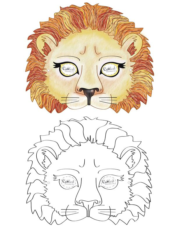 image relating to Printable Lion Masks titled Printable Lion Mask - Coolest Absolutely free Printables papírmunkák