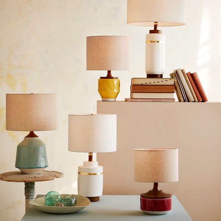 West Elm Roar Rabbittm Ripple Ceramic Table Lamp