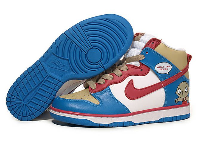 a7575076ef ... get nike dunk high custom what the deuce blue white 8f653 fe269