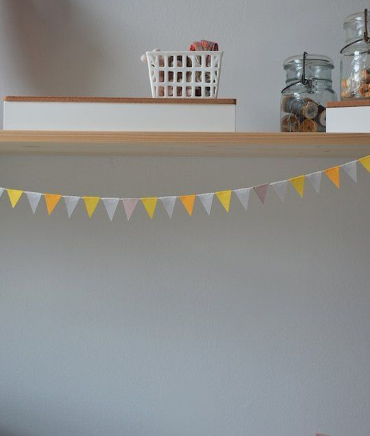DIY Party Decorations: How To Make a Mini Pennant Banner — Apartment Therapy Tutorials