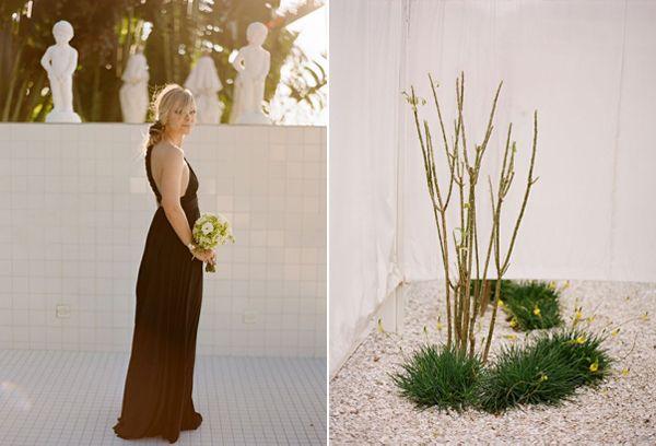 Black Bridesmaid Dresses Long Modern Black Tie