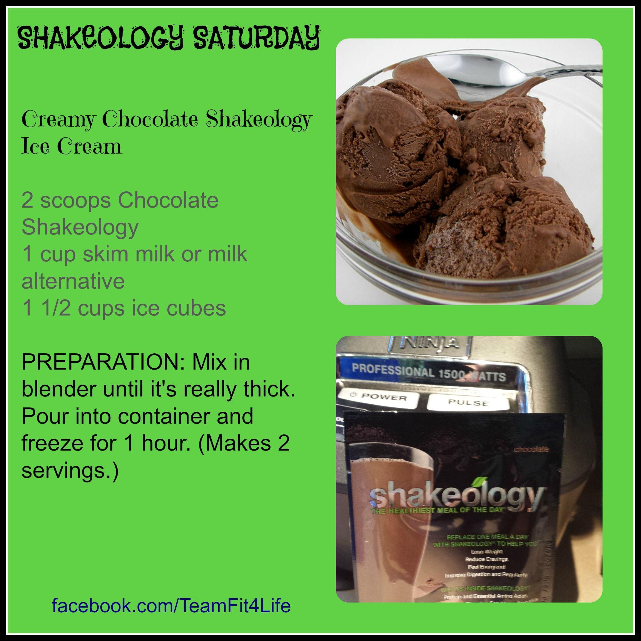 Shakeology Saturday! We even have dessert.... Shakeology