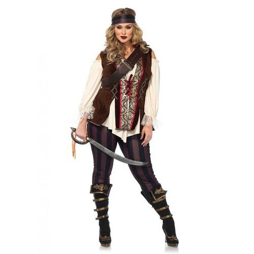 bb773e982b Set your sails for the high seas with this epic Captain Blackheart Women s  Plus Pirate costume! Comes with top