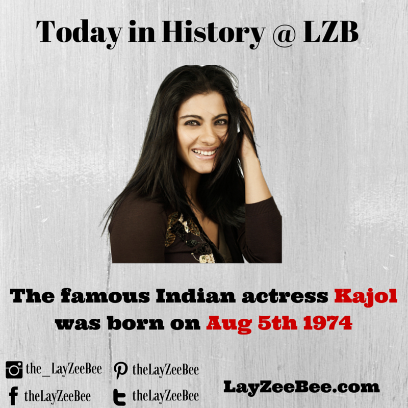 The Famous Indian Actress Kajol Was Born On Aug 5th 1974 Today