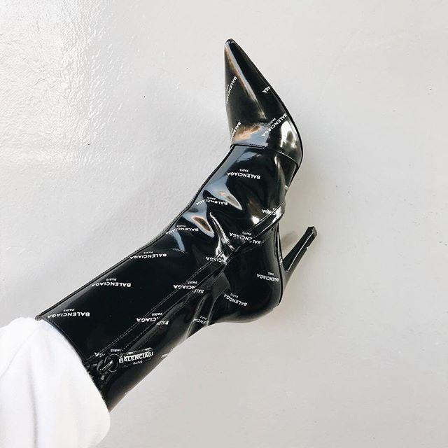 4ec3e1e66990  balenciaga logomania at  antoniamilano.  Balenciaga  logo  boots   accessories  logomania  black  antoniamilano