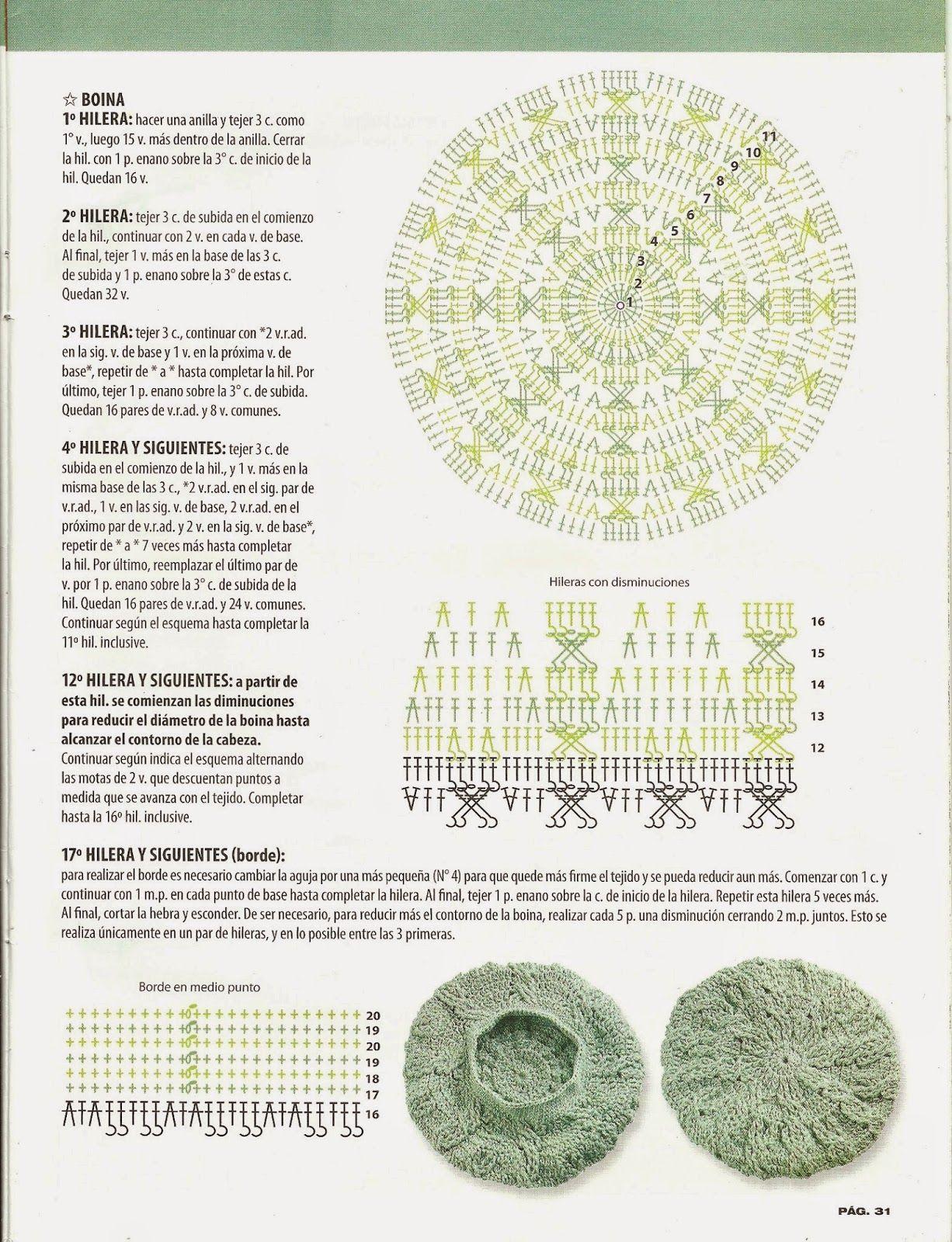 escanear0030.jpg (1226×1600)   crochet   Pinterest   Gorros, Tablero ...