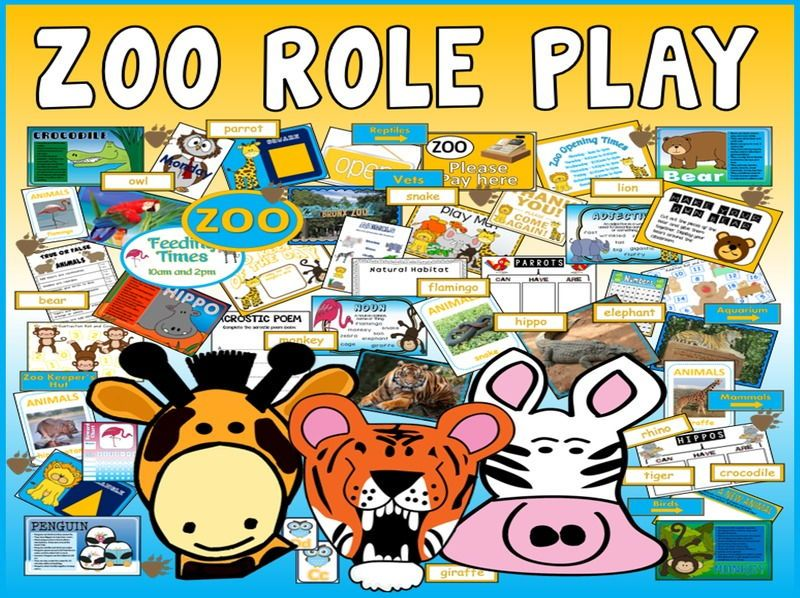 Zoo role play teaching resources eyfs ks1ks2 animals