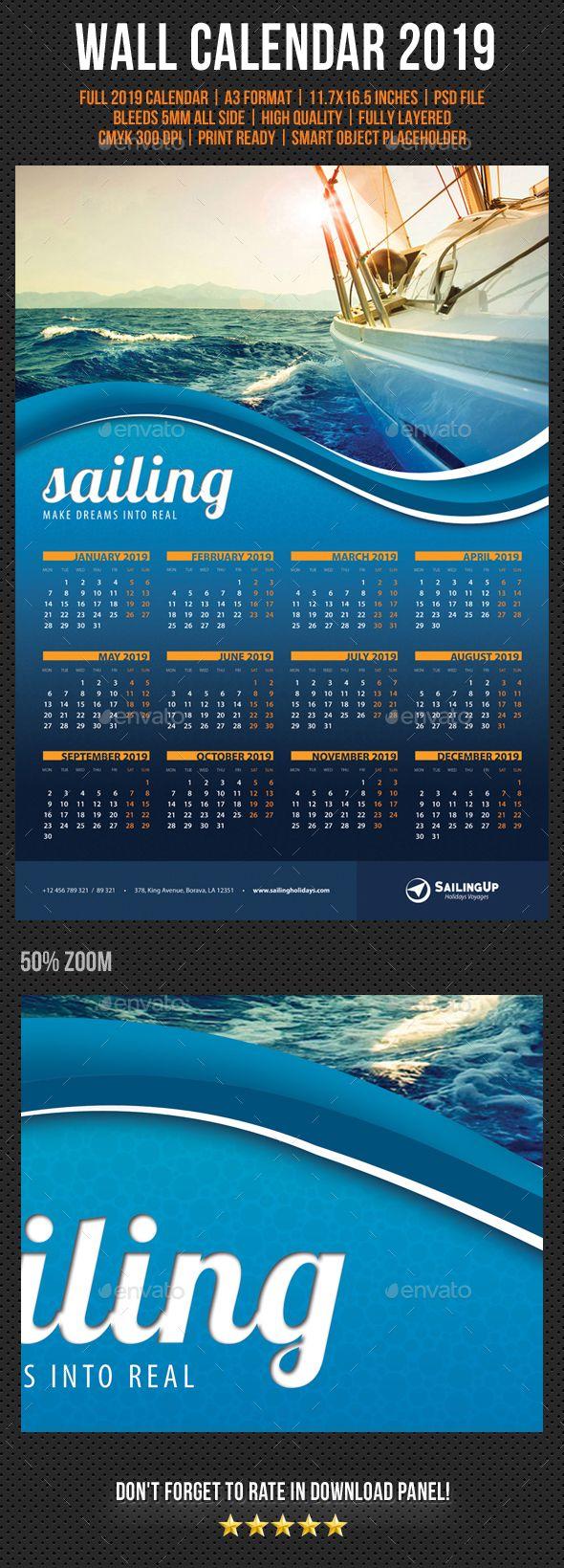 Wall Calendar A3 2021 V01 Wall calendar, Photography