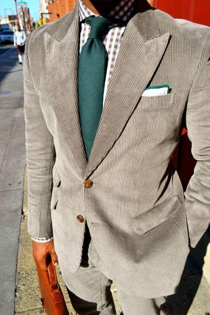Mens Corduroy Suit Jacket Smart Casual Notch Lapel Cord Blazer Coat Vintage