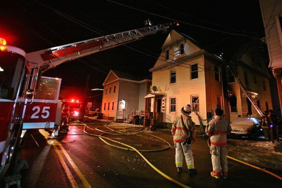 Overnight fire in New London displaces 13 House fire