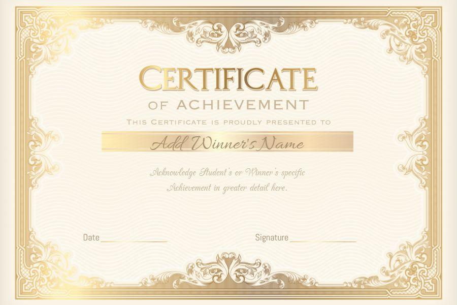 Diploma Certificate Template Design Gold Graduation Diplomas And