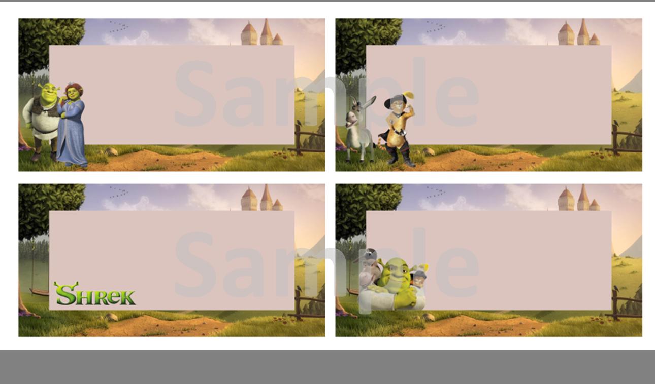 Shrek Labels  FREE PDF Download