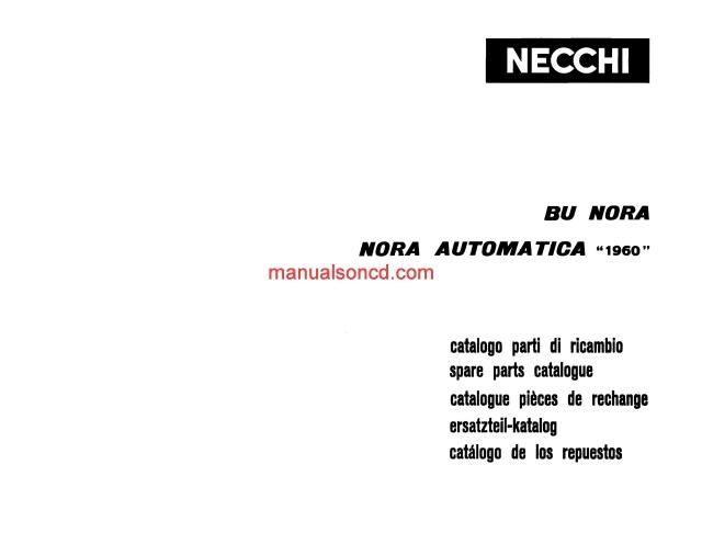 NECCHI MODEL 1960 BU Nora and Nora Automatica Parts