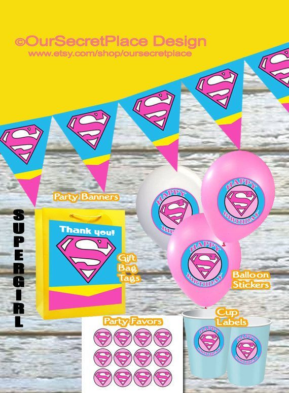 INSTANT DOWNLOAD Girl Superhero Party Sign Decor Baby Shower Decorations Birthday Bam In 2018