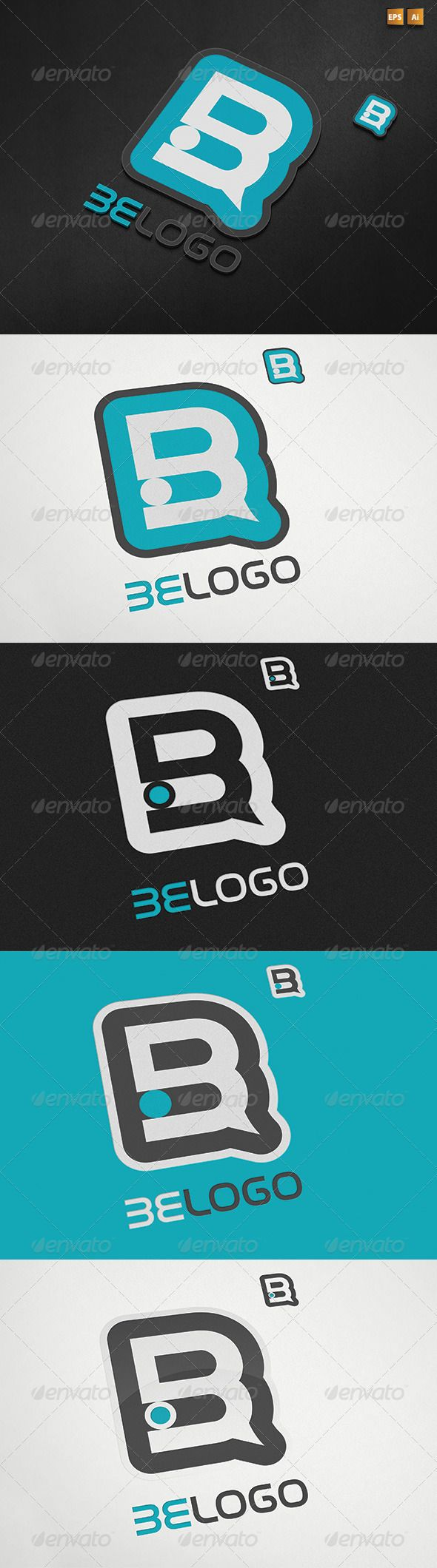 Two versions abstract letter  logo graphicriver summary info vector ai and eps files cmyk setting re sizable color customizable easy to edit used free also rh pinterest