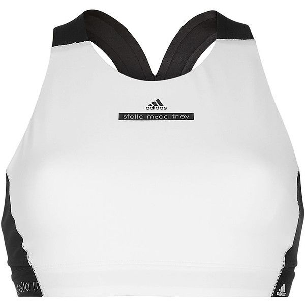 Adidas by Stella McCartney Hit Racerback Bra Top ($69) ❤ liked on Polyvore featuring activewear, sports bras, black, adidas, adidas sports bra, racerback bra top, adidas activewear and bra top