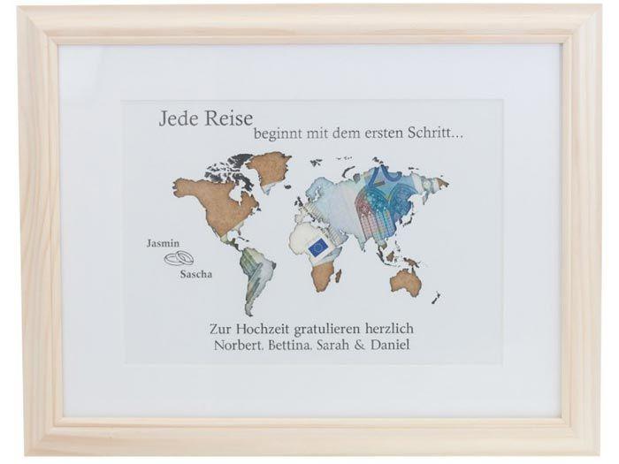 Mit dieser coolen geldgeschenk weltkarte ist die n chste - Weltkarte basteln ...