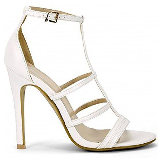 Damen Riemchen Knochel Weiss Gurt Offener Spitze Stiletto High Heels Schuhe Uk6 Euro39 Aus7 Usa8 Sandalen Schuhe Mit Absatz Hochhackige Schuhe Frauen Sandalen
