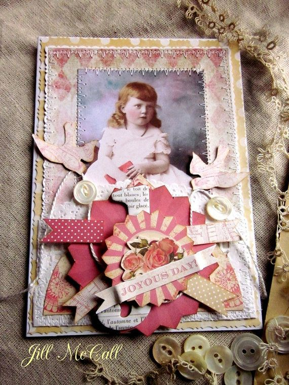 A Joyous Day  Hand Crafted Greeting Card by FeathersAndFlightJM, $3.95
