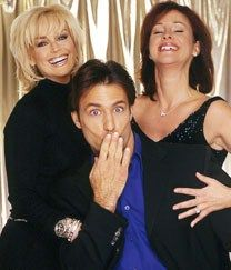 Troy McIver (Ty Treadway) with Lindsay Rappaport (Catherine Hickland) and Nora Buchanan (Hillary B. Smith)