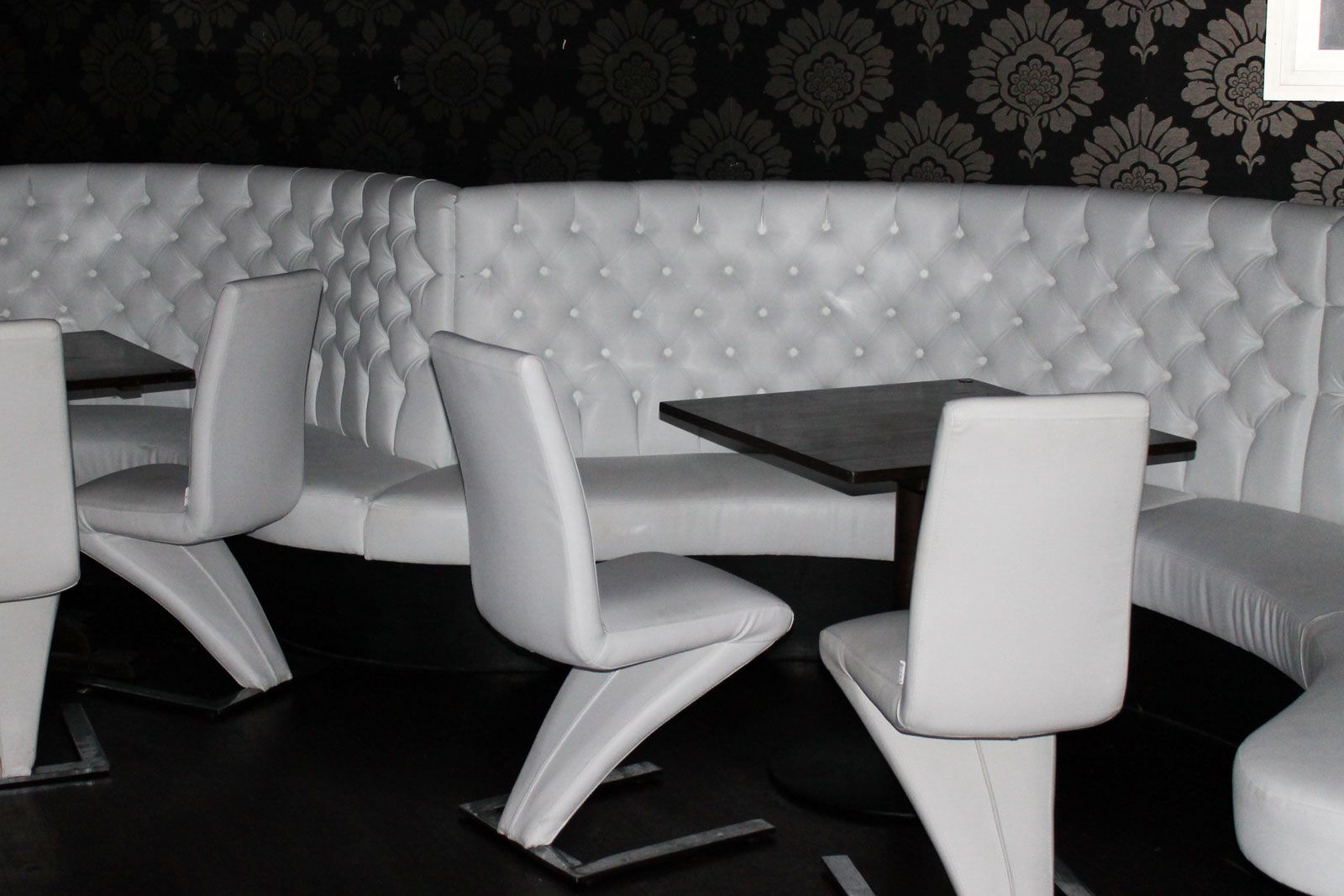 Monochrome Furniture Luxurious Monochrome Banquette Seating And Bar Furniture