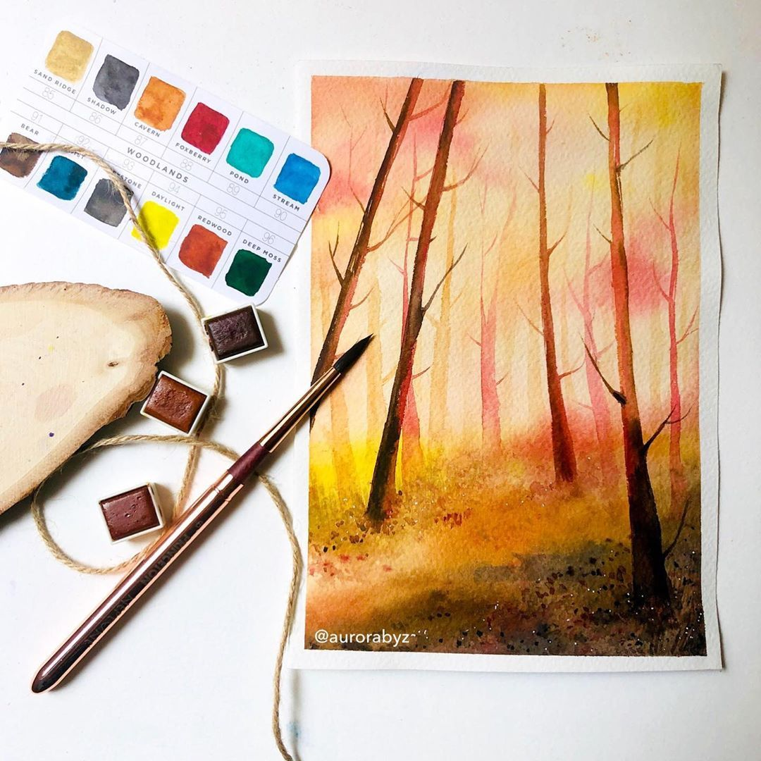 Nto The Woods Done Using Artphilosophyco Woolands Palette