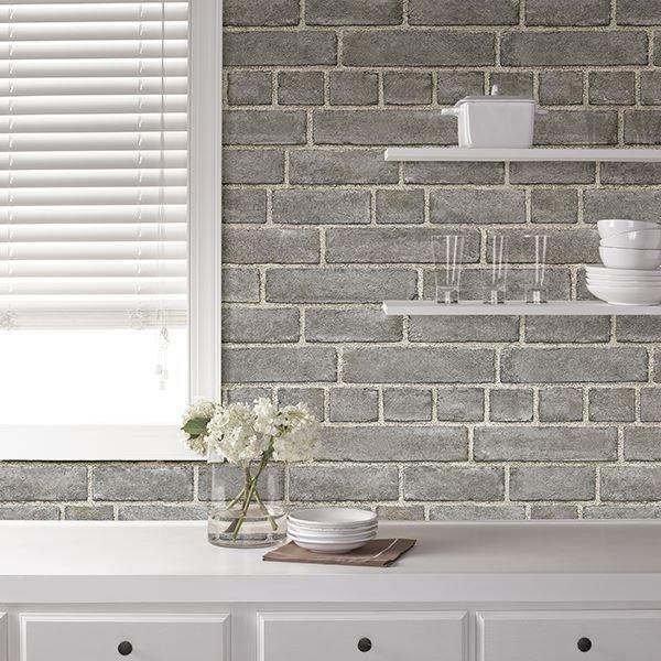 1 New Message Grey Brick Kitchen Backsplash Peel Stick Peel