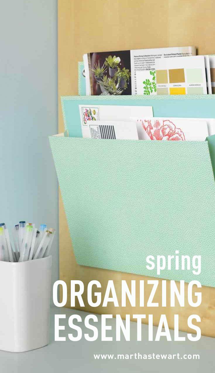 spring organizing essentials | martha stewart living - warmer