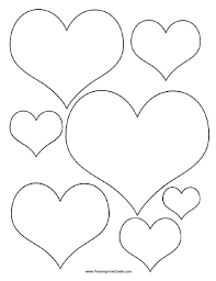 Resultado De Imagen Para Molde De Corazon Para Imprimir Corazones De Fieltro Molde De Corazon Corazon Para Colorear