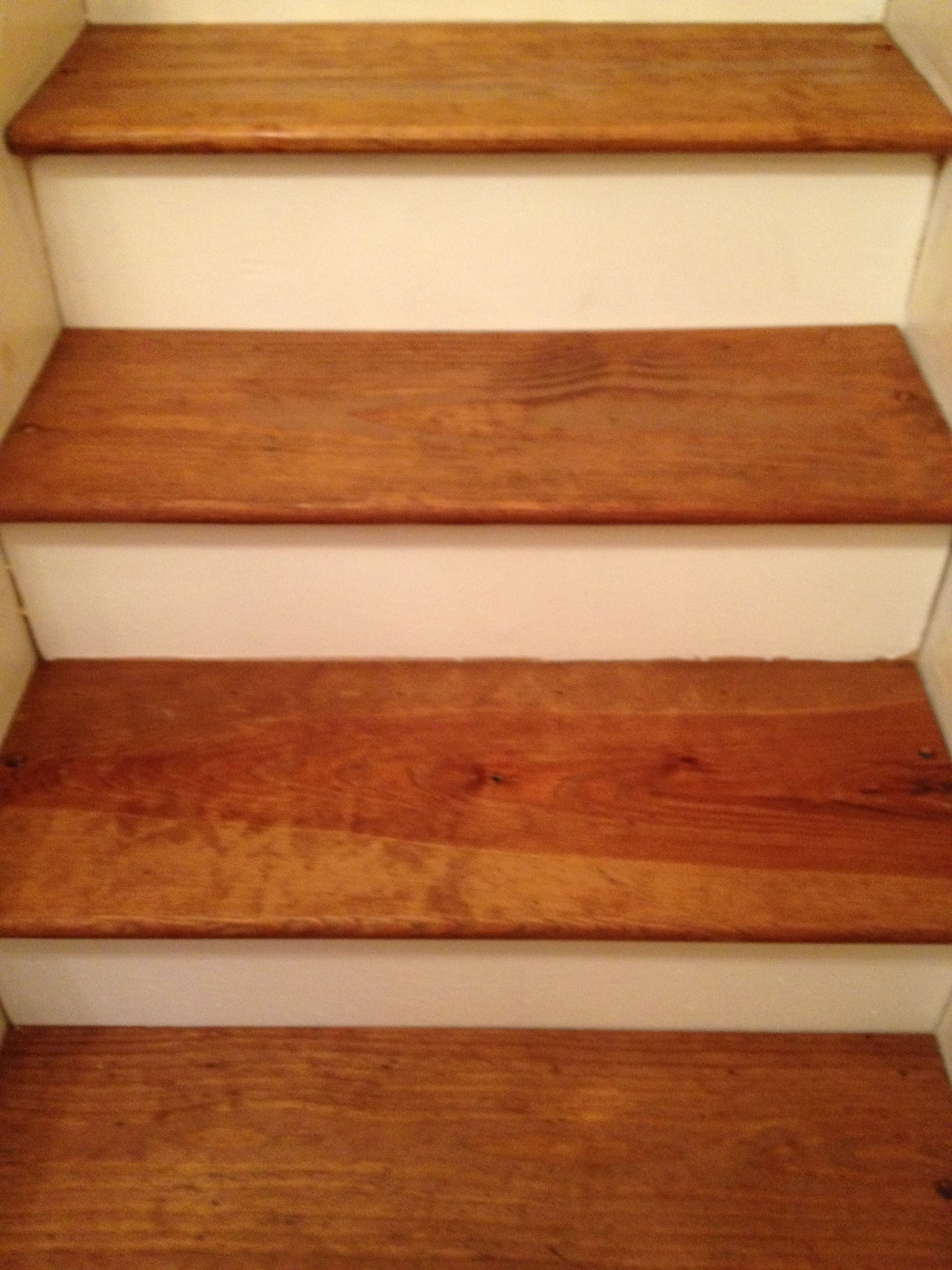 DIY: Pine Stair Treads Remodel