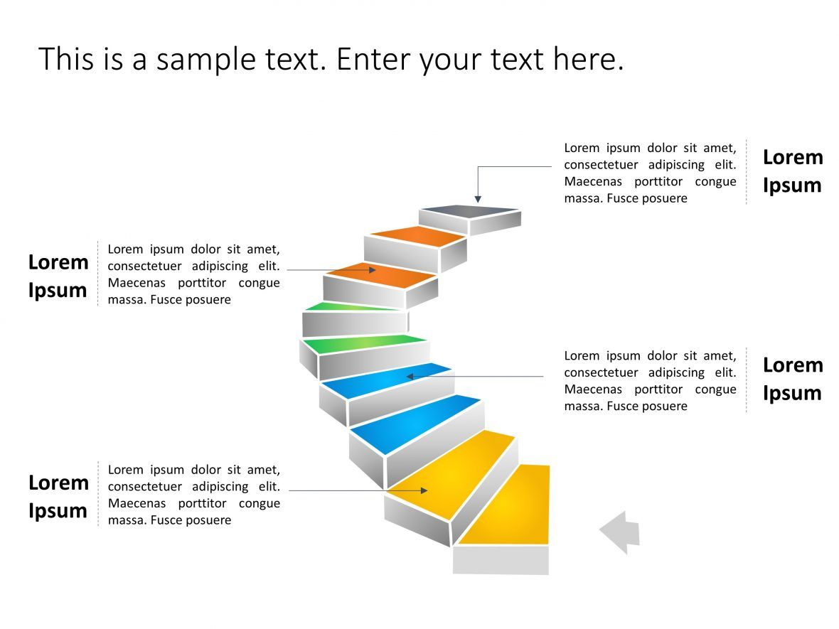 Staircase Roadmap PowerPoint Template 1 in 2020