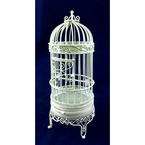 Dollhouse Miniature Victorian White Wire Bird Cage