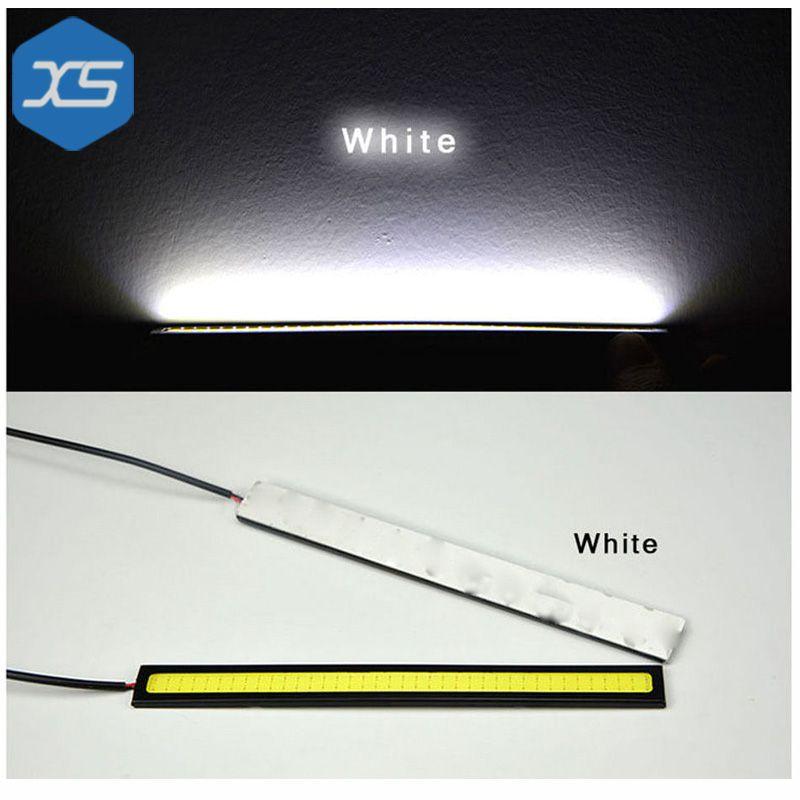 2x Super Bright COB Car Auto LED Lights for DRL Fog Driving Lamp Waterproof 17cm