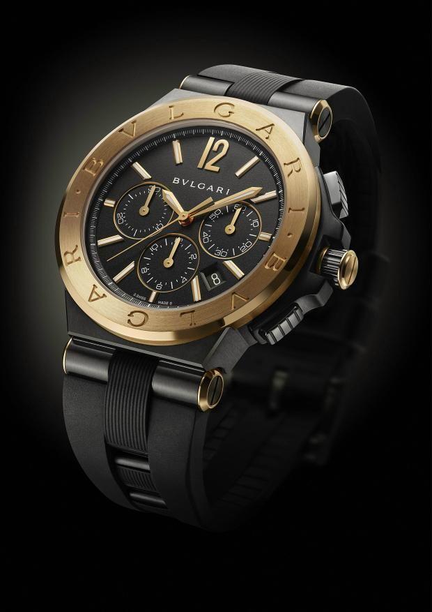 ac2927aa6e78 TimeZone   Industry News » N E W M o d e l - Bulgari Diagono Ultranero  Chronograph Fancy Watches, Dream
