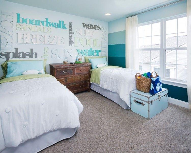 maritime deko im kinderzimmer - streifen in verschiedenen ... - Kinderzimmer Wandgestaltung Ideen Farbe Tapete