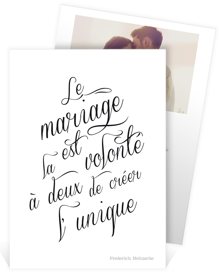 faire part mariage romantique avec cette belle citation. Black Bedroom Furniture Sets. Home Design Ideas