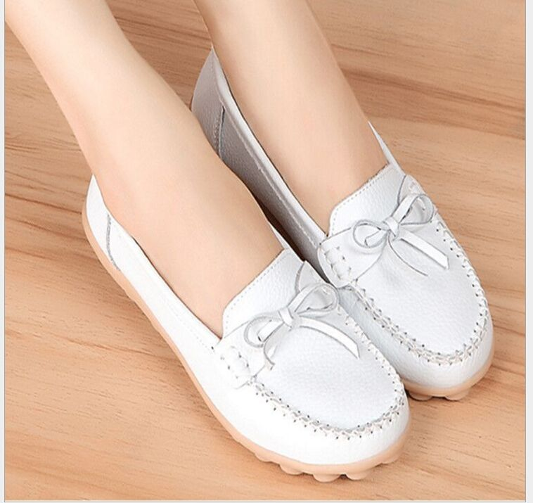 >> Click to Buy << 2017 spring and autumn Genuine Leather bowknot Women Shoes Flats non-skid mother dancing shoes #Affiliate