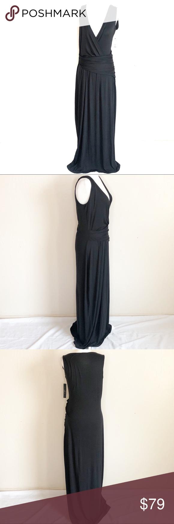 Elie Tahari Black Maxi Dress B18 Black Maxi Dress Elie Tahari Dresses Clothes Design [ 1740 x 580 Pixel ]