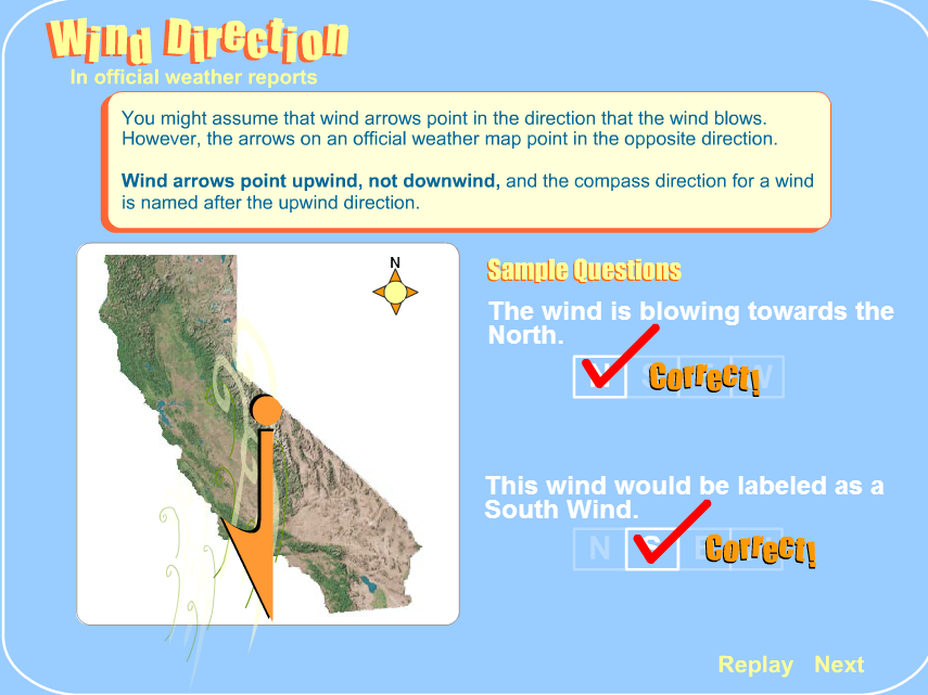 WIND DIRECTION in official weather reports Interactive quiz for