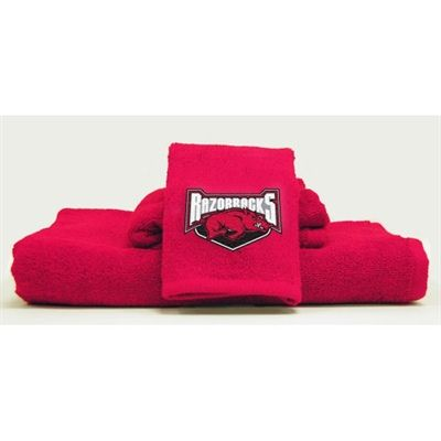 Arkansas Razorbacks 3 Piece Bath Towel Set Arkansas