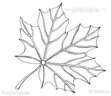 Autumn Maple Leaf Printable Color