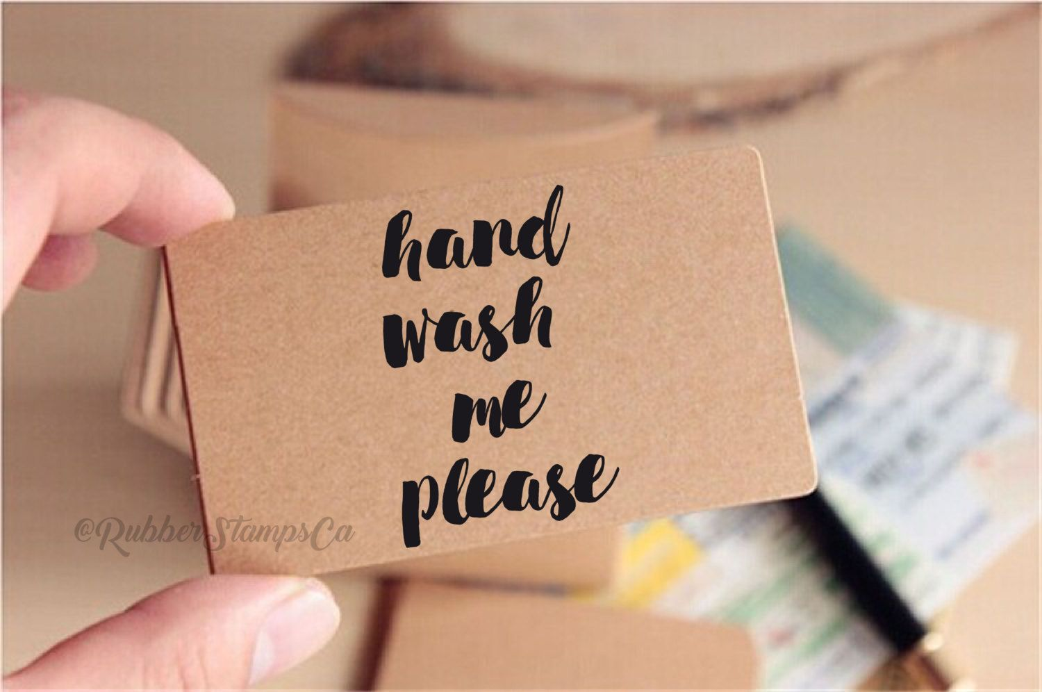 Hand Wash Me Please Rubber Stamp Custom Branding Clothing Product Fashion Label By RubberStampsCa On Etsy