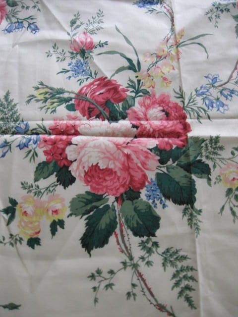 Waverly Pink Rose Chintz Fabric Hampton Court In The 80 S I Used This Chinz And Matching Wallpaper My Bedroom